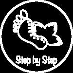 Logo step by step reflexology